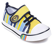 Cute Walk - Multi Colour Stripes Print Canvas Shoes