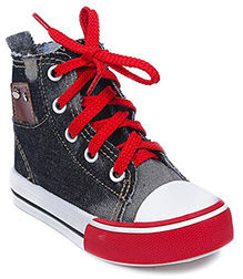 Cute Walk - Plain Lace Up Canvas Shoes