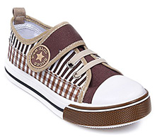 Cute Walk - Stripes And Checks Print Canvas Shoes