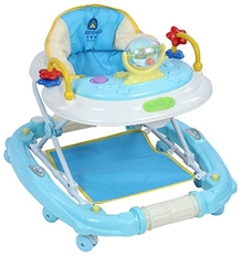 Fab N Funky Baby Walker Cum Rocker With Attached Toy - Blue