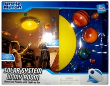 Uncle Milton Remote Control Solar System In My Room Projector