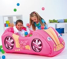 Bestway - Race Car and Game Ball Combo Pink
