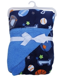 Carters - Star Print Baby Blanket Blue