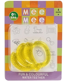 Mee Mee - Fun And Colorful Banana Shape Water Teether - 4 Months+
