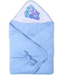 Tinycare Hooded Deluxe Towel - Blue