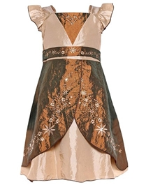 Isabelle - Brown Satin Frock