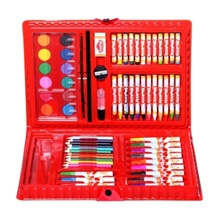 Mitashi Skykidz 67 Pieces Colour Box Art Set - Red