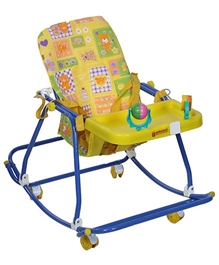 Mothertouch - 3 In 1 Walker Dx Heart And Teddy Print Yellow