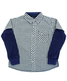 Quarter Spoon - Full Sleeves Checks Print Shirt