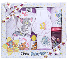 Tom & Jerry - Baby Gift Set Of 7 Pieces Purple