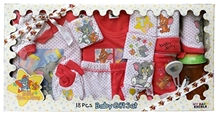 Tom & Jerry - Baby Gift Set Of 18 Pieces Red