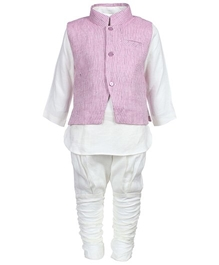 Baby Hug - Traditional kurta Chudidaar Pajama And Jacket Set