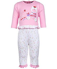 Full Sleeves Choo - Choo Print T - Shirt And Legging Set Medium, 3 - 6 Months, Soft And Comfortable T-shirt With Leggings Set