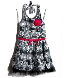 Barbie - Halter Neck Barbie Print Party Wear Dress - 5 - 6 Years