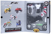 Fab N Funky - Super Racing F4i Police Bike Assembly Kit Red