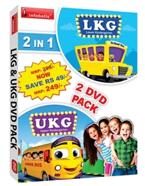 Infobells - 2 In 1 LKG And UKG DVD Pack