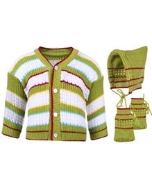 Babyhug Combo of Sweater Cap And Booties