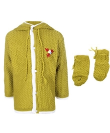 Baby Hug - Pack Of Hooded Sweater And Bootie