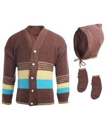 Babyhug Combo Pack Of Sweater Cap And Booties