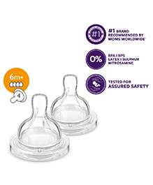 Avent Classic Silicone Teat Fast Flow - Set of 2