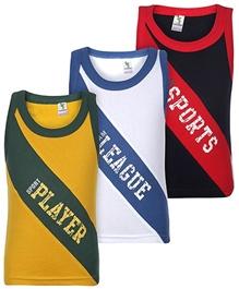 Cucumber - Set Of 3 Printed Vest