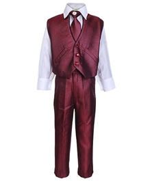 Baby Hug - 3 Piece Party Wear Suit With Brooch
