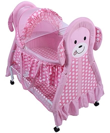 Fab N Funky - Cradle With Mosquito Net Kitty Print Violet