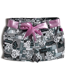 Barbie - Printed Shorts With Satin Belt - 5 - 6 Years