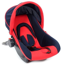 Fab n Funky - Carry Cot cum Car Seat Red