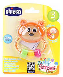 Chicco Easy Grasp Bear Rattle - 3 Months Plus - 9 X 7.5 Cm