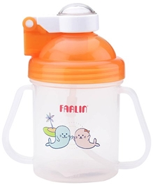 Farlin - Training Cup With Cap Seal Print Orange 250 ml