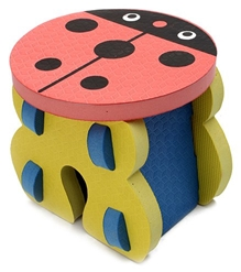 Fab N Funky - Lady Bug Shape EVA Foam Kids Stool Yellow