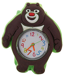 Fab N Funky - Kids Watch Bear Shape Brown