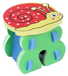 Fab N Funky - Red Snail Shape EVA Foam Kids Stool