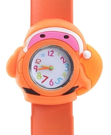 Fab N Funky - Kids Watch Santa Claus Shape Orange