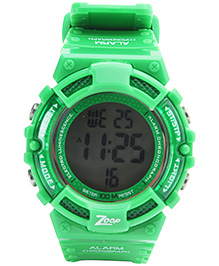 Titan Zoop - Round Dial Digital Wristwatch Green