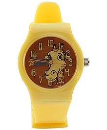 Titan - Zoop Giraffe Print Analog Watch Bright Yellow
