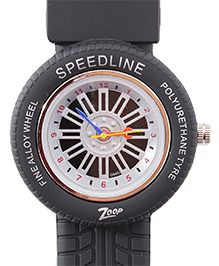 Titan - Zoop Tyre Shape Black Analog Watch
