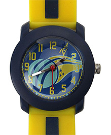 Zoop Analog Yellow Watch With Navy Blue Dial 20 cm, Water resistant up to a depth of 30 m