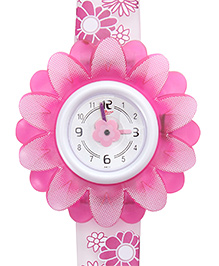 Titan - Zoop Kids Gerbera Flower Shape Pink Analog Watch