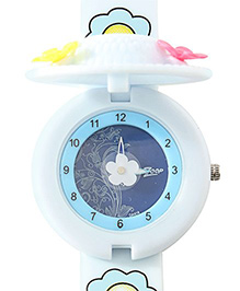 Titan - Zoop Hat Shape Flip Analog Watch White