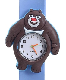 Fab N Funky - Kids Watch Cute Panda Shape Sky Blue