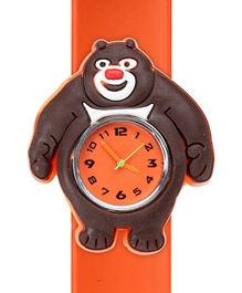 Fab N Funky - Kids Watch Smiling Bear Shape Orange