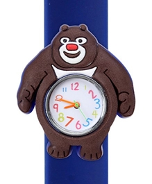 Fab N Funky - Kids Watch Smiling Bear Shape Blue