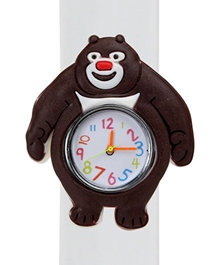 Fab N Funky - Kids Watch Smiling Bear Shape White