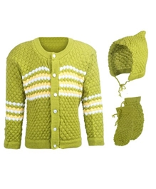Baby Hug - Pack Of Baby Sweater Cap And Booties
