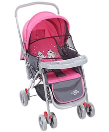 Pink N Grey Upto 36 Months, Three Reclining Position Adjustable Seat Sitting-relaxi...