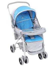 Grey N Blue Upto 36 Months, Three Reclining Position Adjustable Seat Sitting-relaxi...