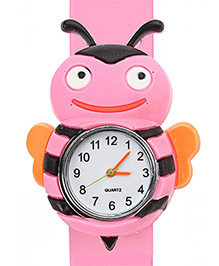 Fab N Funky - Kids Watch Bee Shape Pink