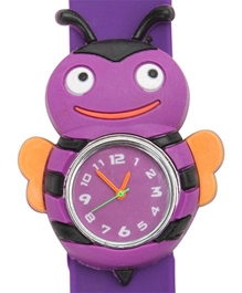 Fab N Funky - Kids Watch Bee Shape Purple